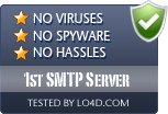 1st SMTP Server is free of viruses and malware.