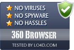 360 Browser is free of viruses and malware.