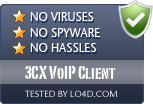 3CX VoIP Client is free of viruses and malware.