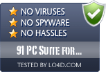 91 PC Suite for Android is free of viruses and malware.