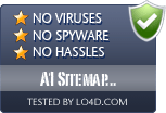 A1 Sitemap Generator is free of viruses and malware.