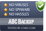 ABC Backup is free of viruses and malware.