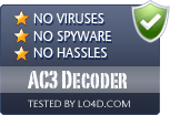 AC3 Decoder is free of viruses and malware.
