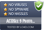 ACDSee 9 Photo Manager is free of viruses and malware.