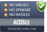 ACDSee is free of viruses and malware.