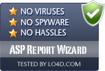 ASP Report Wizard is free of viruses and malware.