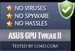 ASUS GPU Tweak II is free of viruses and malware.