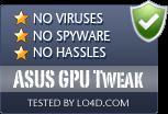 ASUS GPU Tweak is free of viruses and malware.
