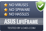 ASUS LifeFrame is free of viruses and malware.