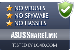 ASUS Share Link is free of viruses and malware.