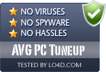 AVG PC Tuneup is free of viruses and malware.