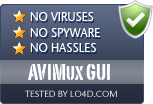 AVIMux GUI is free of viruses and malware.