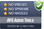 AVS Audio Tools is free of viruses and malware.