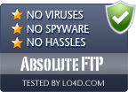 Absolute FTP is free of viruses and malware.