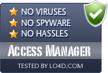 Access Manager is free of viruses and malware.