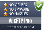 AceFTP Pro is free of viruses and malware.