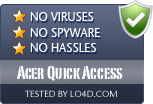 Acer Quick Access is free of viruses and malware.