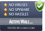 Active Wall Professional is free of viruses and malware.