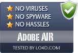 Adobe AIR is free of viruses and malware.