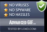 Advanced GIF Animator is free of viruses and malware.