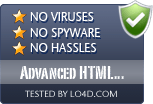 Advanced HTML Protector is free of viruses and malware.