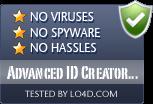 Advanced ID Creator Professional is free of viruses and malware.