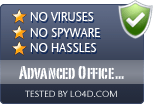 Advanced Office Repair is free of viruses and malware.