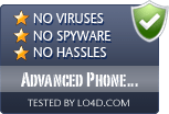 Advanced Phone Recorder is free of viruses and malware.