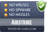 Airstrike is free of viruses and malware.