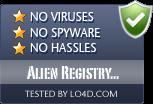 Alien Registry Viewer is free of viruses and malware.