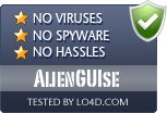 AlienGUIse is free of viruses and malware.