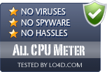 All CPU Meter is free of viruses and malware.