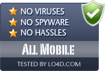 All Mobile is free of viruses and malware.