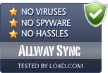 Allway Sync is free of viruses and malware.