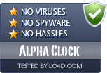 Alpha Clock is free of viruses and malware.
