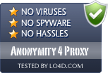 Anonymity 4 Proxy is free of viruses and malware.