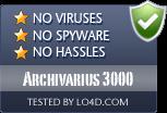 Archivarius 3000 is free of viruses and malware.