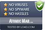 Atomic Mail Verifier is free of viruses and malware.