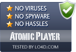 Atomic Player is free of viruses and malware.