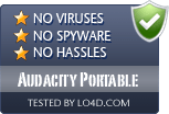 Audacity Portable is free of viruses and malware.