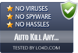 Auto Kill Any Process is free of viruses and malware.