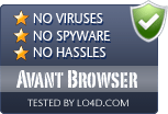 Avant Browser is free of viruses and malware.