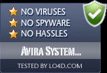Avira System Speedup is free of viruses and malware.