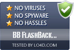 BB FlashBack Express is free of viruses and malware.
