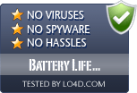 Battery Life Extender is free of viruses and malware.