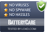 BatteryCare is free of viruses and malware.
