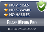 Blaze Media Pro is free of viruses and malware.
