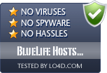 BlueLife Hosts Editor is free of viruses and malware.