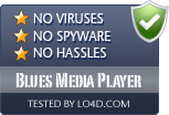 Blues Media Player is free of viruses and malware.