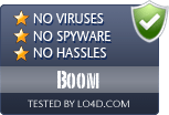 Boom is free of viruses and malware.